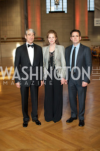 Sam Waterston, Queen Noor of Jordan, Matt Dillon. Photo by Ben Droz.