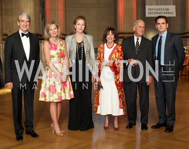 Sam Waterson, Mariella Trager, Queen Noor, Didi Cutler, Walter Cutler, Matt Dillon. Photo by Ben Droz.
