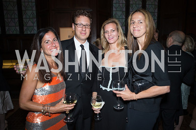 Molly Elkin, Ivan Wasserman, Katherine Weymouth, Carolyn Niles. Resilience Gala Pen Faulkner Award for Fiction. Photo by Alfredo Flores. Folger Shakespeare Library. September 10, 2012