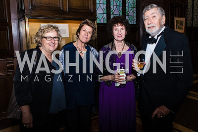 Carol Anshaw, Jessie Ewing, Hilma Wolitzer, Morton Wolitzer. Resilience Gala Pen Faulkner Award for Fiction. Photo by Alfredo Flores. Folger Shakespeare Library. September 10, 2012