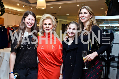 Sabrina Shulman, Wilma Bernstein, Alexa and Alison Shulman. Photo by Tony Powell. Valentino 2013 Collection to benefit Autism Speaks. Saks Jandel. December 9, 2012