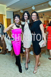 Barbara and Crystal Wright, Lori Soto. Photo by Tony Powell. Valentino 2013 Collection to benefit Autism Speaks. Saks Jandel. December 9, 2012