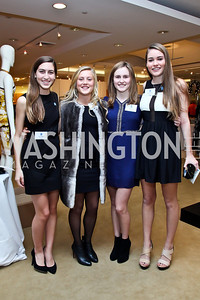 Carlin Pappas, Olivia Kornhonen, Claudia Libow, Diana Woodward. Photo by Tony Powell. Valentino 2013 Collection to benefit Autism Speaks. Saks Jandel. December 9, 2012