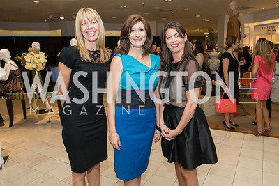 Evelyn Mannino, Joy Elena Robertson, Kerri Larkin. Saks and Washington Ballet Red Valentino Fall 2012 Shopping Party. Photo by Alfredo Flores. Saks Chevy Chase. September 13, 2012