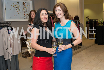 Ellie Slotkin, Joy Elena Robertson. Saks and Washington Ballet Red Valentino Fall 2012 Shopping Party. Photo by Alfredo Flores. Saks Chevy Chase. September 13, 2012