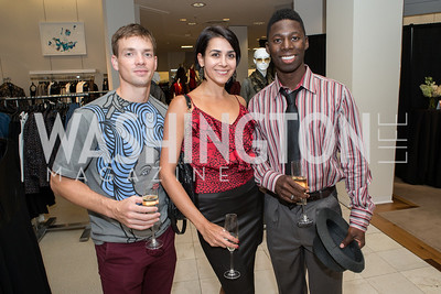 Jonathan Jordan, Sona Kharatian, Brooklyn Mack. Saks and Washington Ballet Red Valentino Fall 2012 Shopping Party. Photo by Alfredo Flores. Saks Chevy Chase. September 13, 2012