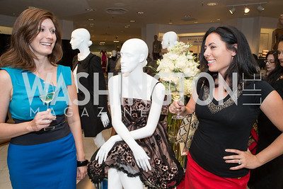 Joy Elena Robertson, Ellie Slotkin. Saks and Washington Ballet Red Valentino Fall 2012 Shopping Party. Photo by Alfredo Flores. Saks Chevy Chase. September 13, 2012