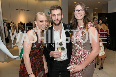 Nicole Haskins, Dan Roberge, Christina Golubski. Saks and Washington Ballet Red Valentino Fall 2012 Shopping Party. Photo by Alfredo Flores. Saks Chevy Chase. September 13, 2012