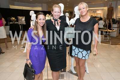 Rachel Cecala, Meghan Comey, Alexandra Libby. Saks and Washington Ballet Red Valentino Fall 2012 Shopping Party. Photo by Alfredo Flores. Saks Chevy Chase. September 13, 2012