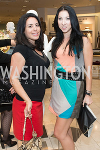 Ellie Slotkin, Kateryna Derechyna. Saks and Washington Ballet Red Valentino Fall 2012 Shopping Party. Photo by Alfredo Flores. Saks Chevy Chase. September 13, 2012