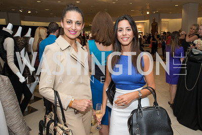 Indira Mehrpour, Paniz Firouzabadi. Saks and Washington Ballet Red Valentino Fall 2012 Shopping Party. Photo by Alfredo Flores. Saks Chevy Chase. September 13, 2012