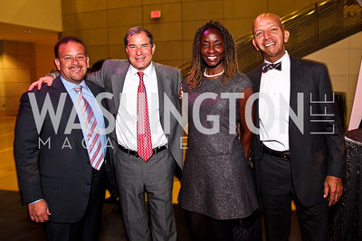 Raul Fernandez, Jim Abdo, Rynthia Rost, Anthony Williams. School Night 2012. April 13, 2012. Photo by Tony Powell