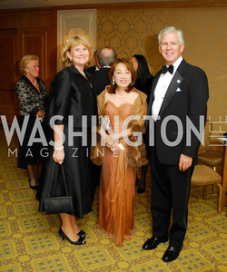 Laurie Farr,Sachiko Kuno,Michael Farr,October 13,2012,Sibley Hospital's Celebration Of Hope  and Progress Gala,Kyle Samperton
