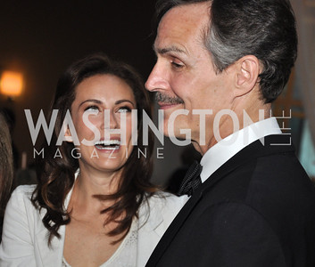 Howard McGillin,  Laura Benati.Signature Theater, Stephen Sondheim Award Gala, April 16, 2012, The Embassy of Italy . Photo by Ben Droz