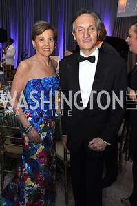 Adrienne Arsht and Ambassador Claudio Bisogniero. Signature Theater, Stephen Sondheim Award Gala, April 16, 2012, The Embassy of Italy . Photo by Ben Droz