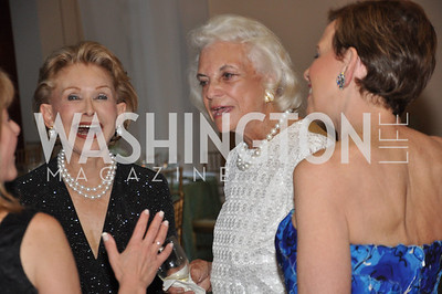 Annette Lerner, Sandra Day O'Connor, Adrienne Arsht. Signature Theater, Stephen Sondheim Award Gala, April 16, 2012, The Embassy of Italy . Photo by Ben Droz