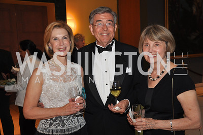Evelyn Sandground, Bill Perkins, Patricia Bryant.  Signature Theater, Stephen Sondheim Award Gala, April 16, 2012, The Embassy of Italy . Photo by Ben Droz