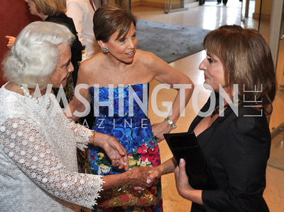 Sandra Day O'Connor, Adrienne Arsht, Patti Lupone.Signature Theater, Stephen Sondheim Award Gala, April 16, 2012, The Embassy of Italy . Photo by Ben Droz
