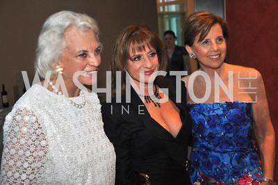Sandra Day O'Connor,  Pattie LuPone, Adrienne Arsht  Signature Theater, Stephen Sondheim Award Gala, April 16, 2012, The Embassy of Italy . Photo by Ben Droz