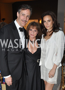 Howard McGillin, Patti LuPone, Laura Benati. Signature Theater, Stephen Sondheim Award Gala, April 16, 2012, The Embassy of Italy . Photo by Ben Droz
