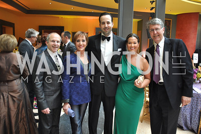 Kenneth and Bonnie Feld, David Ostroff, Sara Jaffe, Tom Gage  Signature Theater, Stephen Sondheim Award Gala, April 16, 2012, The Embassy of Italy . Photo by Ben Droz