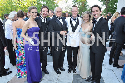 Madeleine Botteri, James Gardiner, Harry Winter, Stephen Gregory Smith, Erin Driscall, Matthew Gardiner.   Signature Theater, Stephen Sondheim Award Gala, April 16, 2012, The Embassy of Italy . Photo by Ben Droz