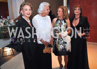 Annette Lerner, Sandra Day O'Connor, Adrienne Arsht Marla Lerner Tannenbaum, Patti LuPone.  Signature Theater, Stephen Sondheim Award Gala, April 16, 2012, The Embassy of Italy . Photo by Ben Droz