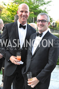 Arne Boudewyn, Christopher Downing . Signature Theater, Stephen Sondheim Award Gala, April 16, 2012, The Embassy of Italy . Photo by Ben Droz