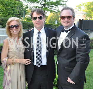 Joan Duckett, Warren Ducket, John White. Signature Theater, Stephen Sondheim Award Gala, April 16, 2012, The Embassy of Italy . Photo by Ben Droz
