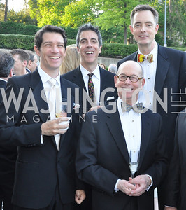 Joseph Amodio, Joseph Thalken, Tom Hesselbrock, Carl Spatz.  Signature Theater, Stephen Sondheim Award Gala, April 16, 2012, The Embassy of Italy . Photo by Ben Droz