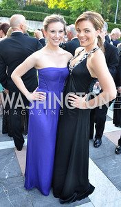 Madeleine Boterri, Weslie Woodley.   Signature Theater, Stephen Sondheim Award Gala, April 16, 2012, The Embassy of Italy . Photo by Ben Droz