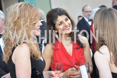 Nicole Maugel, Isha Masood, Allison Robinson. Signature Theater, Stephen Sondheim Award Gala, April 16, 2012, The Embassy of Italy . Photo by Ben Droz