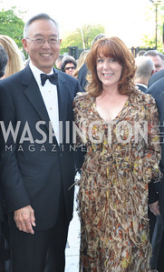 Ted and Mary Jo Shen  . Signature Theater, Stephen Sondheim Award Gala, April 16, 2012, The Embassy of Italy . Photo by Ben Droz