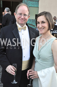 Tim Carlton Jill Walling..  Signature Theater, Stephen Sondheim Award Gala, April 16, 2012, The Embassy of Italy . Photo by Ben Droz
