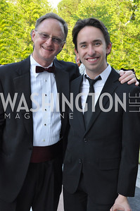 Bob Hebda, Matthew Gardiner.  Signature Theater, Stephen Sondheim Award Gala, April 16, 2012, The Embassy of Italy . Photo by Ben Droz
