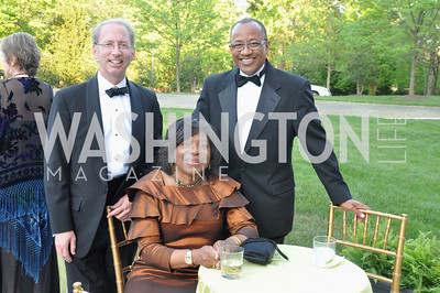 R-L Alfred Holston, Joann Holson, Chip Dipaula. Signature Theater, Stephen Sondheim Award Gala, April 16, 2012, The Embassy of Italy . Photo by Ben Droz