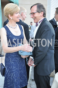 Susan Spencer and Tom Oliphant. Signature Theater, Stephen Sondheim Award Gala, April 16, 2012, The Embassy of Italy . Photo by Ben Droz