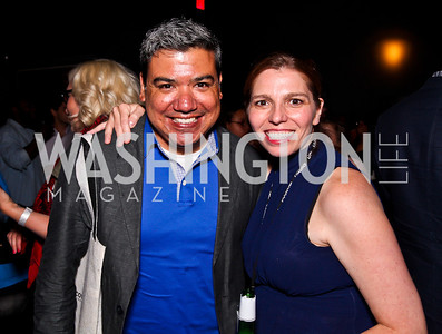 Eugene Hernandez, Silverdocs Festival Director Sky Sitney. Silverdocs Opening Night After Party. Photo by Tony Powell. The Fillmore. June 18, 2012