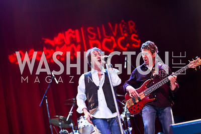 """""""The Reagan Years"""" lead singer Michael Leigh and bassist Jody Lewis. Silverdocs Opening Night After Party. Photo by Tony Powell. The Fillmore. June 18, 2012"""