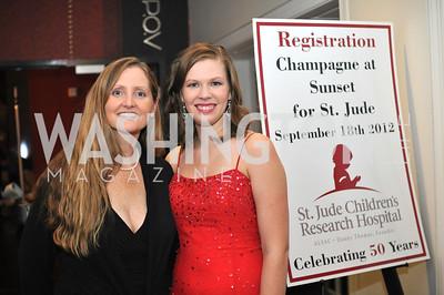 Jennifer Allert, Lauren Willner,  Champagne at Sunset for St. Jude Children's Hospital Research at W Hotel POV Lounge. Photo by Ben Droz