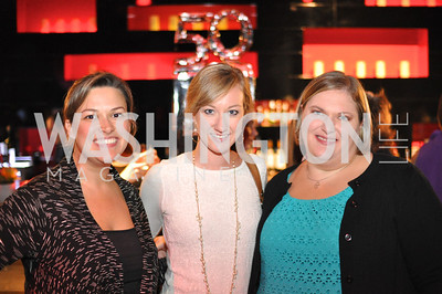 Mollie O'Dell, Katie Kennedy, Julia Bays,  Champagne at Sunset for St. Jude Children's Hospital Research at W Hotel POV Lounge. Photo by Ben Droz