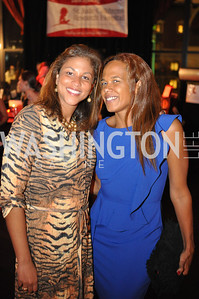 Nathalie Antoine and Caroline Sada,  Champagne at Sunset for St. Jude Children's Hospital Research at W Hotel POV Lounge. Photo by Ben Droz