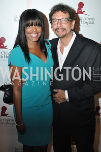Giovanna Jean-Baptiste, Len DePas, Champagne at Sunset for St. Jude Children's Hospital Research at W Hotel POV Lounge. Photo by Ben Droz