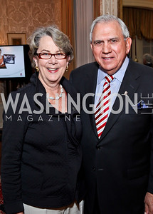 Karen Joulwan and Ret. Gen. George Joulwan. Photo by Tony Powell. St. Jude Reception at the residence of the Lebanese Ambassador. November 13, 2012