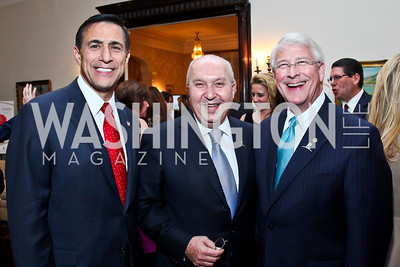 Congressman Darrell Issa, Lebanese Amb. Antoine Chedid, Senator Roger Wicker. Photo by Tony Powell. St. Jude Reception at the residence of the Lebanese Ambassador. November 13, 2012