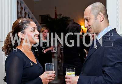 Cecilia Villa, Louis Karim. Photo by Tony Powell. St. Jude Reception at the residence of the Lebanese Ambassador. November 13, 2012