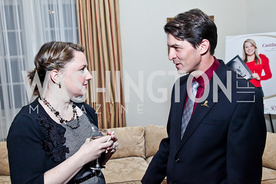 Kate Duggan, Robert Machen. Photo by Tony Powell. St. Jude Reception at the residence of the Lebanese Ambassador. November 13, 2012
