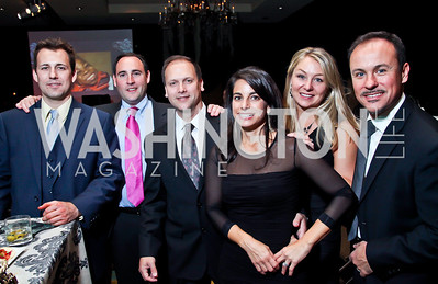 "Nick Stein, Colin Cappadonna, Sean and Marie Frazier, Stephanie and Roger Sola-Solé. Photo by Tony Powell. Starlight Taste of the Stars ""A Stellar Night."" Four Seasons. November 17, 2012"
