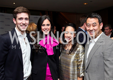 "Chris and Candace Ourisman, Tracey Thomm, WeddingWire founder Tim Chi. Photo by Tony Powell. Starlight Taste of the Stars ""A Stellar Night."" Four Seasons. November 17, 2012"