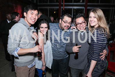 Kevin Lee, Erin O'Dell, Mikoo Dogra, Jeff Aragores, Zain Martin. Studio 34 The Studio Theatre Annual Gala. Studio Theatre. February 4, 2012. Photo by Alfredo Flores